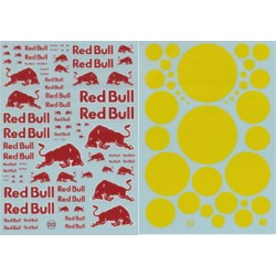 Red Bull waterslide decals for scale 1/24 1/32