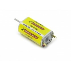 Motor - Slim can - Axle 1,5 mm 25000 rpm, 0,14 Amp., 82 gr*cm at 12V Size: 26.9x15.5x12mm. Sealed Endbell
