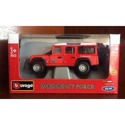Burago 1/50 Land Rover Defender Firefighters Red