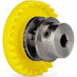 28t Crown, for inline motor - STEP2 - Aluminium for 3/32 axle. With M2 allen screw