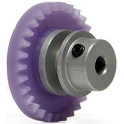 29t Crown, for inline motor - STEP2 - Aluminium for 3/32 axle. With M2 allen screw