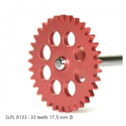 "Sidewinder spur gear Z33X17,5mm for 3/32"" axle, pink"
