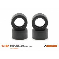 Pneu A-S25 20x10mm Racing Slick (Shore 25) para jante de 15,8 a 17mm