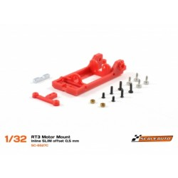 Bancada Motor In-Line SLim RT3. Offset -0.5mm Extra-Hard (vermelho)