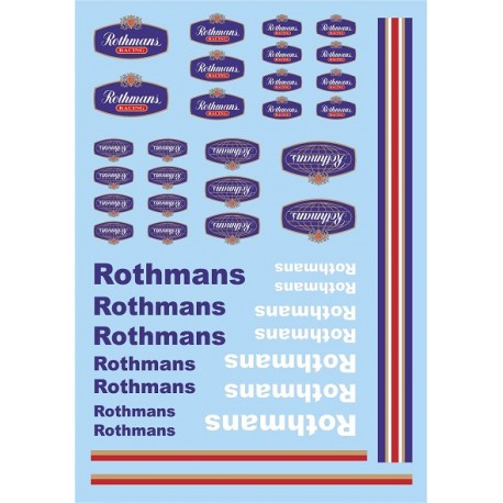 Decalques 1/32 Mitoos ROTHMANS