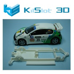 Chassis 3d in line para Peugeot 206 WRC SCX